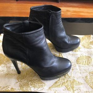 Barney's NY black leather boots